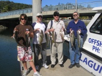 Noosa fishing charter trag Jew and morwong