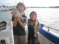 Sunshine coast fishing Squire and Grunter Bream