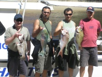 Sunshine coast fishing charter 13th September group shot Noosas Laguna Charters Sunshine Coast Queensland